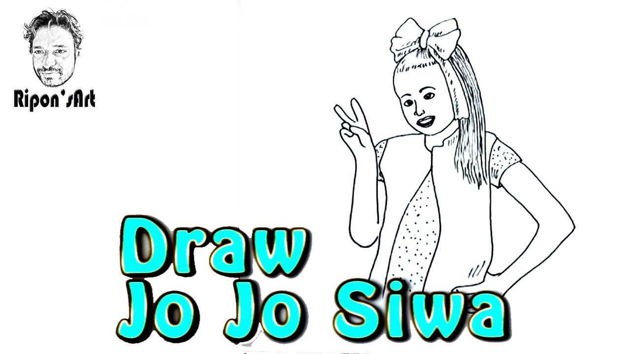 How to draw jojo siwa ripons art