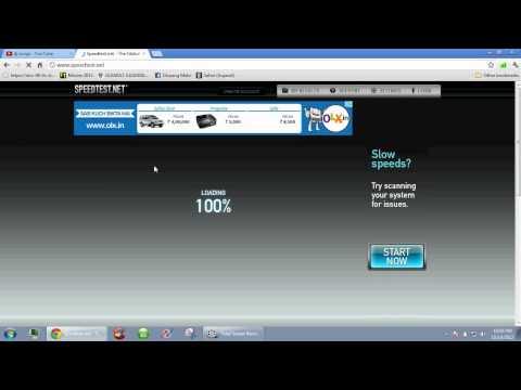 BSNL EVDO Speed Test KBps And Mbps