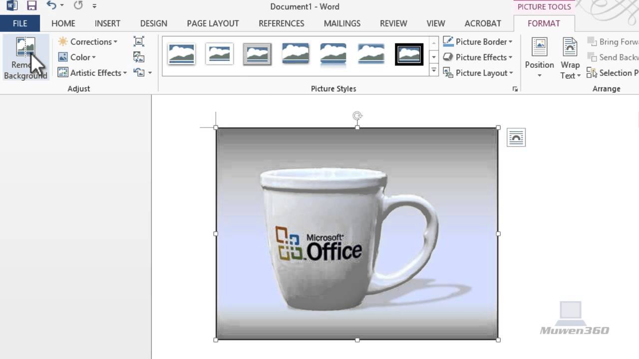 How To Remove Background From An Image Using Microsoft Word 2010 &  2013[EASY!]