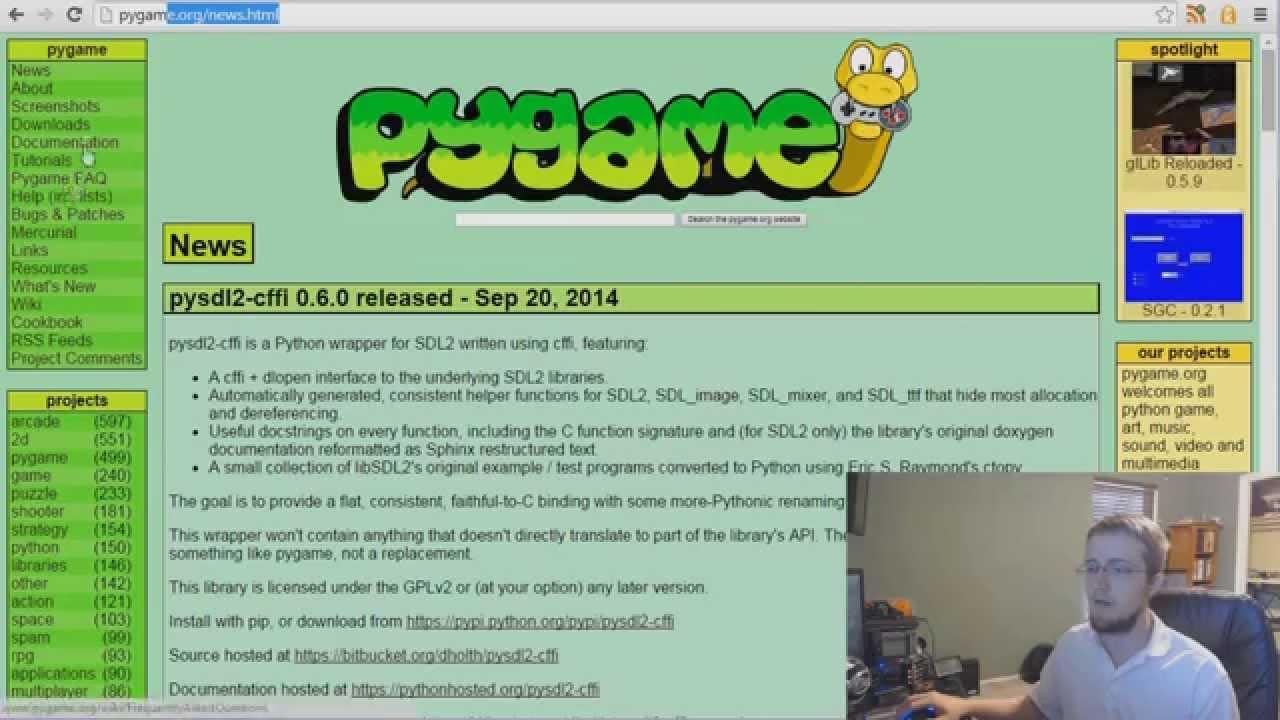 Pygame (Python Game Development) Tutorial - 1 - Introduction