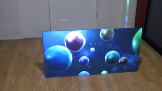"""NOW YOU CAN HAVE A OLED TV LIKE PROJECTOR SCREEN AT 100"""" 16:10 AT ONLY $2,299"""