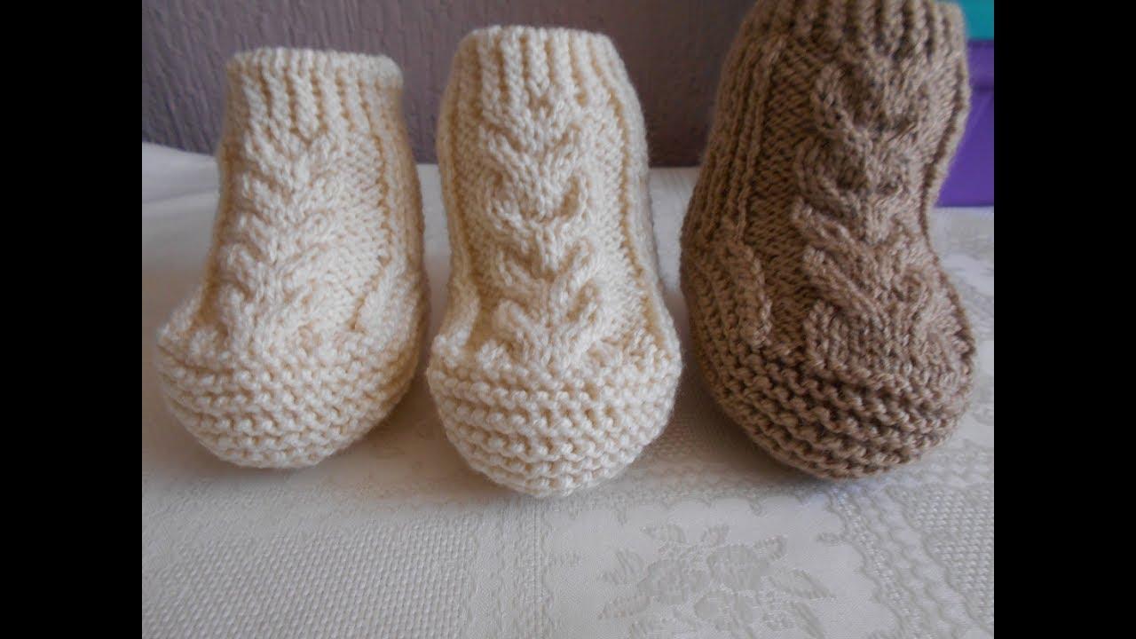 a73f8201ad4b0 Botas - Zapatos para bebe en dos agujas  2 - knitting - YouTube