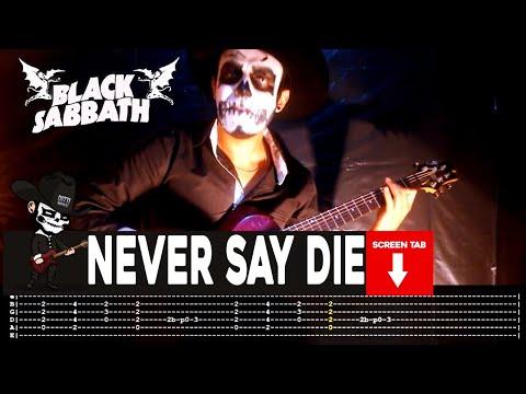 Black Sabbath - Never Say Die (Guitar Cover by Masuka W/Tab)