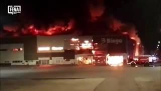 """Veliki požar zahvatio tržni centar """"Bingo"""" u Mostaru"""