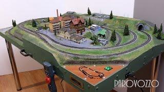 Макет железной дороги - Рабочий посёлок