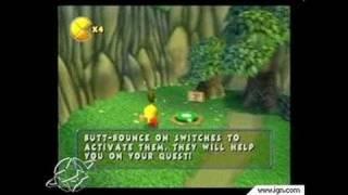 Pac-Man World 2 PlayStation 2 Gameplay - Super butt jump