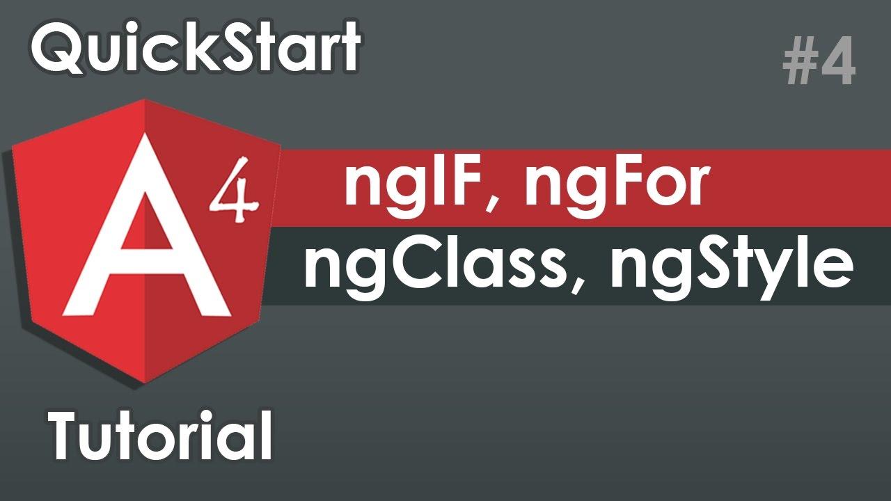 Angular 4 Quickstart Tutorial Angular 4 Directives Ngfor Ngif
