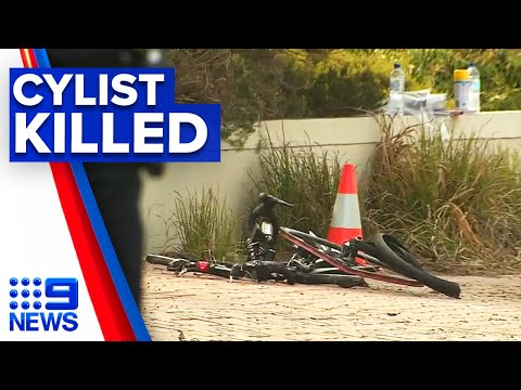 Cyclist fatally struck by car on New Year's morning | 9 News Australia thumbnail