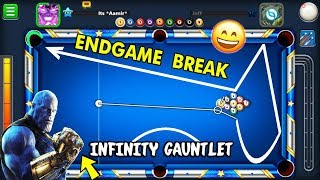 I Made The AVENGERS ENDGAME Golden Break In 9 Ball Pool..(INFINITY GAUNTLET FUN)