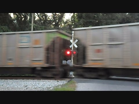 CSX Coal Train Hits Rail Joint Fast And Hard Cars Bounce