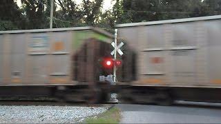 CSX Coal Train Hits Rail Joint Fast And Hard Cars Bounce