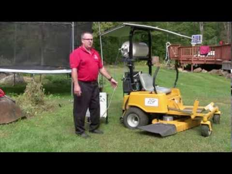 Solar Hydrogen Fuel Cell Electric Ride-On Lawn Mower