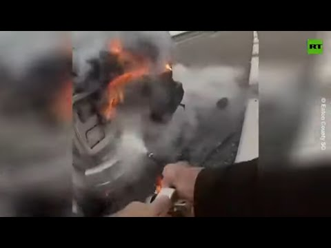 Deputy's quick thinking saves driver from burning van
