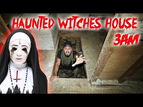 3AM CHALLENGE IN THE HAUNTED WITCH HOUSE! I GONE WR0NG CAUGHT ON CAMERA | MOE SARGI