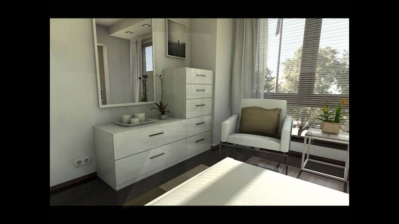 Dise o interior una casa blanca de 90m2 youtube for Diseno interior departamento