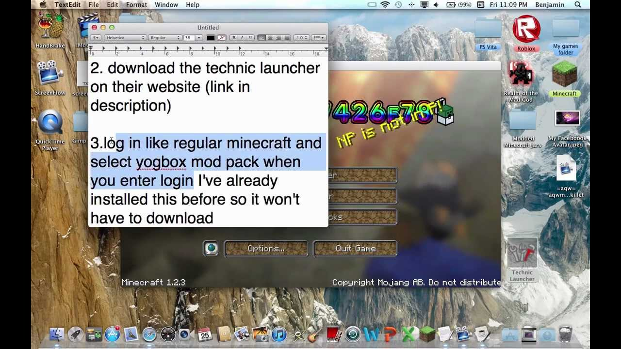 1. Download the Technic Launcher