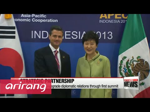 President Park arrives in Mexico seeking stronger diplomatic relations