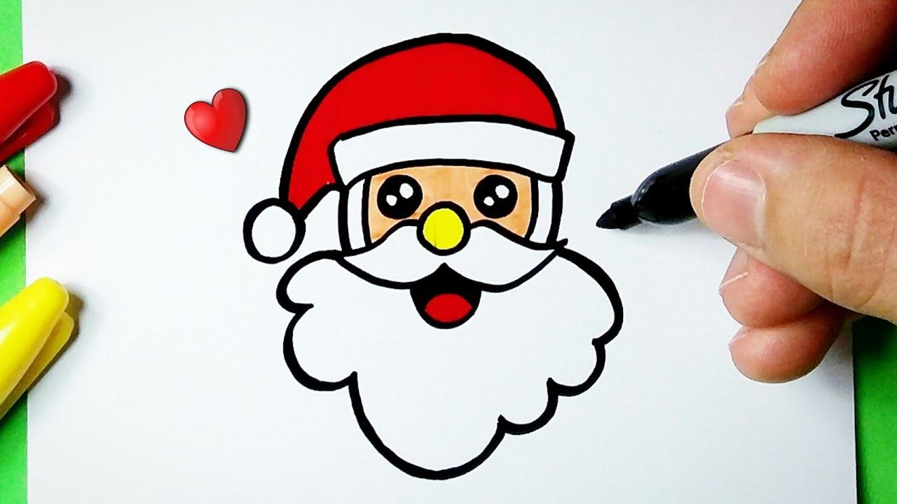 Como Desenhar Papai Noel Kawaii Santa Claus Fofo Desenhos De