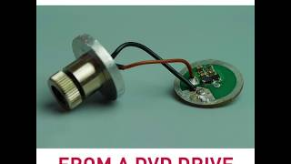 How to make DIY burning laser from a dvd drive?
