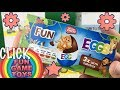 New triple Unwrapping - FUN EGGS -  Mister Choc toys review - Episode 8