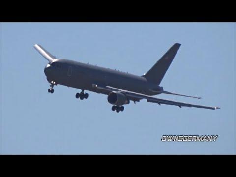 Boeing KC-46 Pegasus Prototype Performing Hard Banks & Missed Approach Test Flight