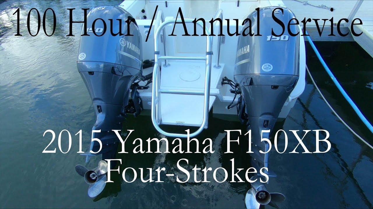 How to 100 Hour service / Annual Service / Maintenance Yamaha F150 2015