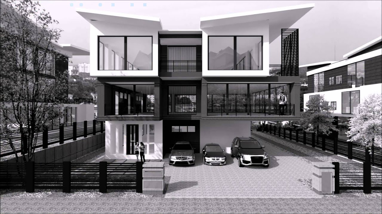 Bungalow exterior concept design by interior my youtube for Bungalow design concept