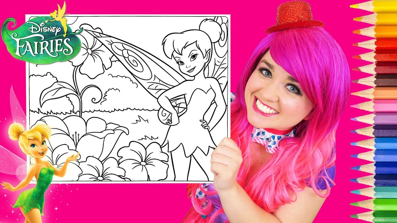 Coloring Tinkerbell Disney Fairies Coloring Book Page Prismacolor ...