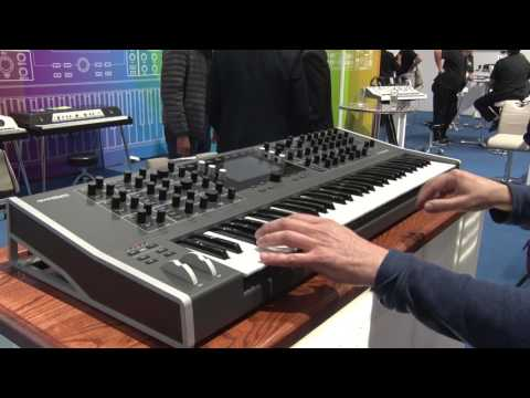 Musikmesse 2017 WALDORF Quantum Synthesizer Features and Sound Demo (english)