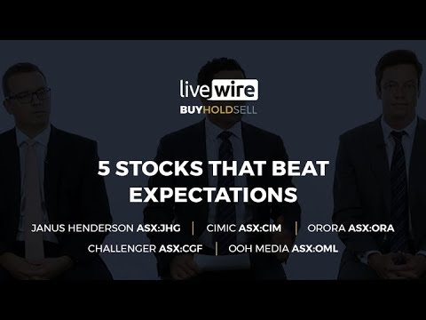 Buy Hold Sell: 5 stocks that beat expectations