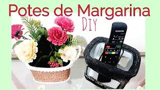 Crie 2 Ideias Super Úteis para REAPROVEITAR POTES de MARGARINA