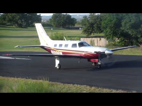 Piper Malibu Meridian Takeoff From Lakeway Airpark