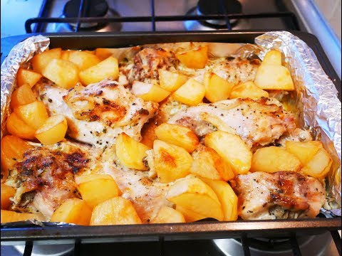 Как запечь кролика в духовке с картошкой