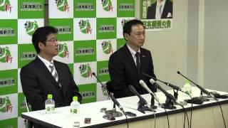 2013.5.11(土)日本維新の会 東 徹 出馬会見の様子です。