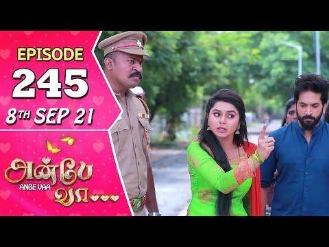Anbe Vaa Serial | Episode 245 | 8th Sep 2021 | Virat | Delna Davis | Saregama TV Shows Tamil