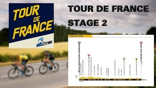Tour de France 2018 Online with Pro Cycling Manager 2018 - Stage 2