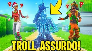 "TROLL THE FANS with INVISIBILITY on FORTNITE! ""ASSURDO"" Fortnite Challenge & GLItch ITA"