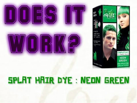 Splat Neon Green Hair Dye Review Youtube