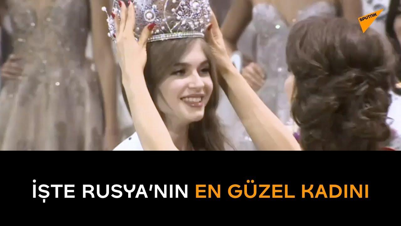 Rusya'nın en güzel kadını seçildi