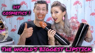 THE WORLD'S LARGEST LIPSTICK (10 oz.)  ! A WORLD RECORD !