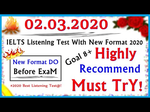 IELTS LISTENING PRACTICE TEST 2020 WITH ANSWERS | 02.03.2020