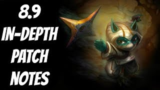 8.9 In-depth Patch Notes Analysis -- Season 8 -- League of Legends