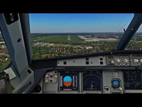 X-Plane 11] - Flight Factor A320 landing @EDLP - BSS Soundpack by