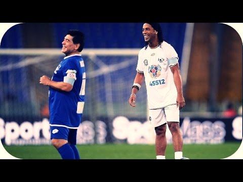 Ronaldinho vs Amigos de Maradona & Totti ● Jogo pela Paz ● 12/10/16