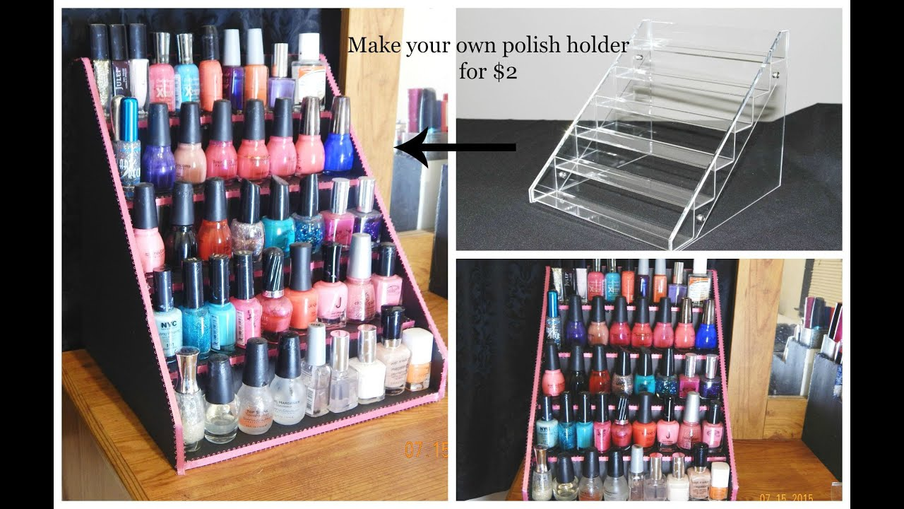 Easy DIY Nail Polish Table Display Rack For Super Cheap - YouTube