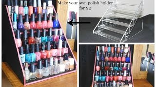 Easy DIY Nail Polish Table Display Rack For Super Cheap