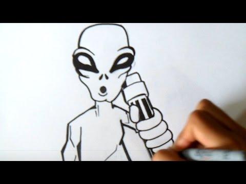 Como Desenhar Um Alien 237 Gena No 2 Graffiti Wizard Art
