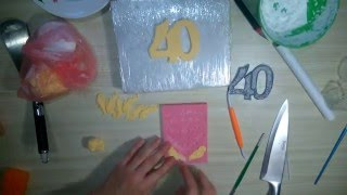 Вертикальная цифра из мастики со свечкой [1] - Я - ТОРТодел!