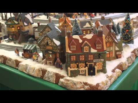 Gerald and Kathy's Lionel Polar Express Dept 56 Christmas Village 2015