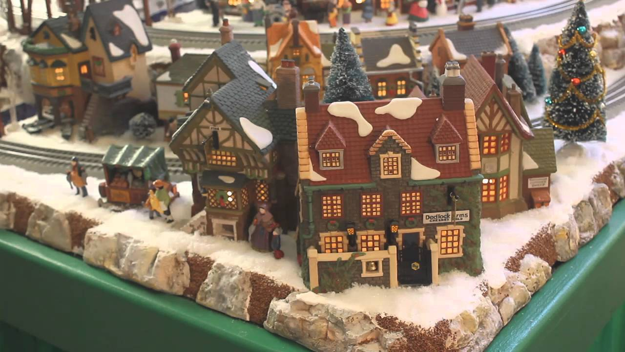 gerald and kathys lionel polar express dept 56 christmas village 2015